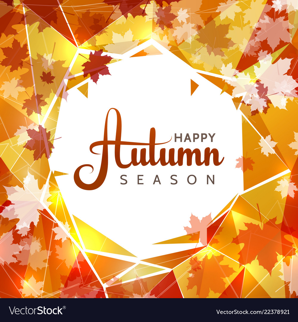 Autumn sale background with white circle in
