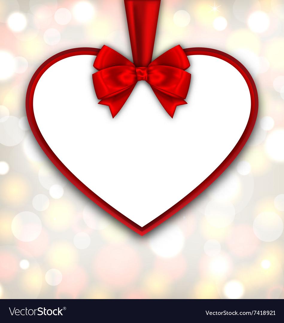 Border shape form Heart from ribbon Valentine day