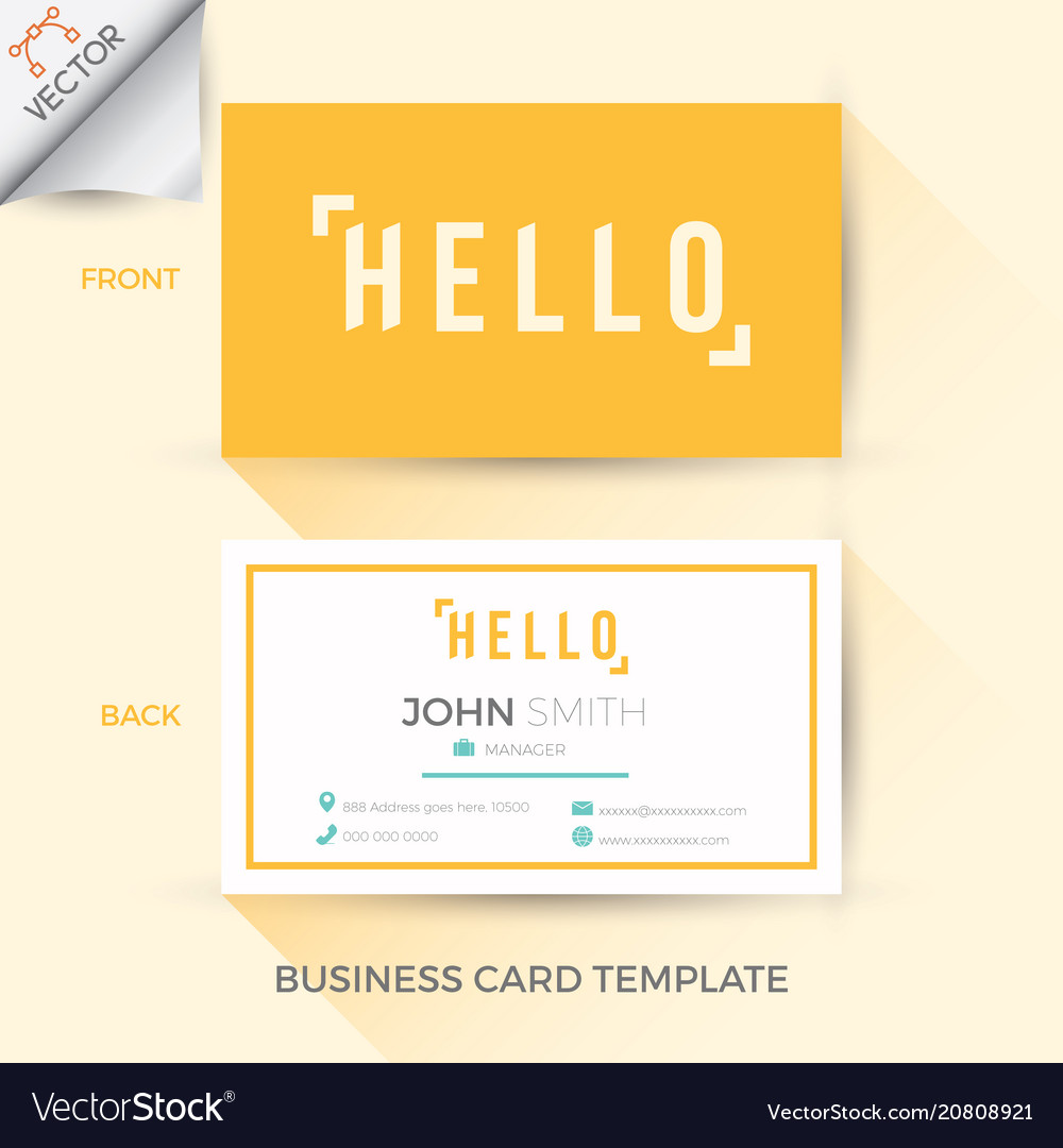 Business name card template