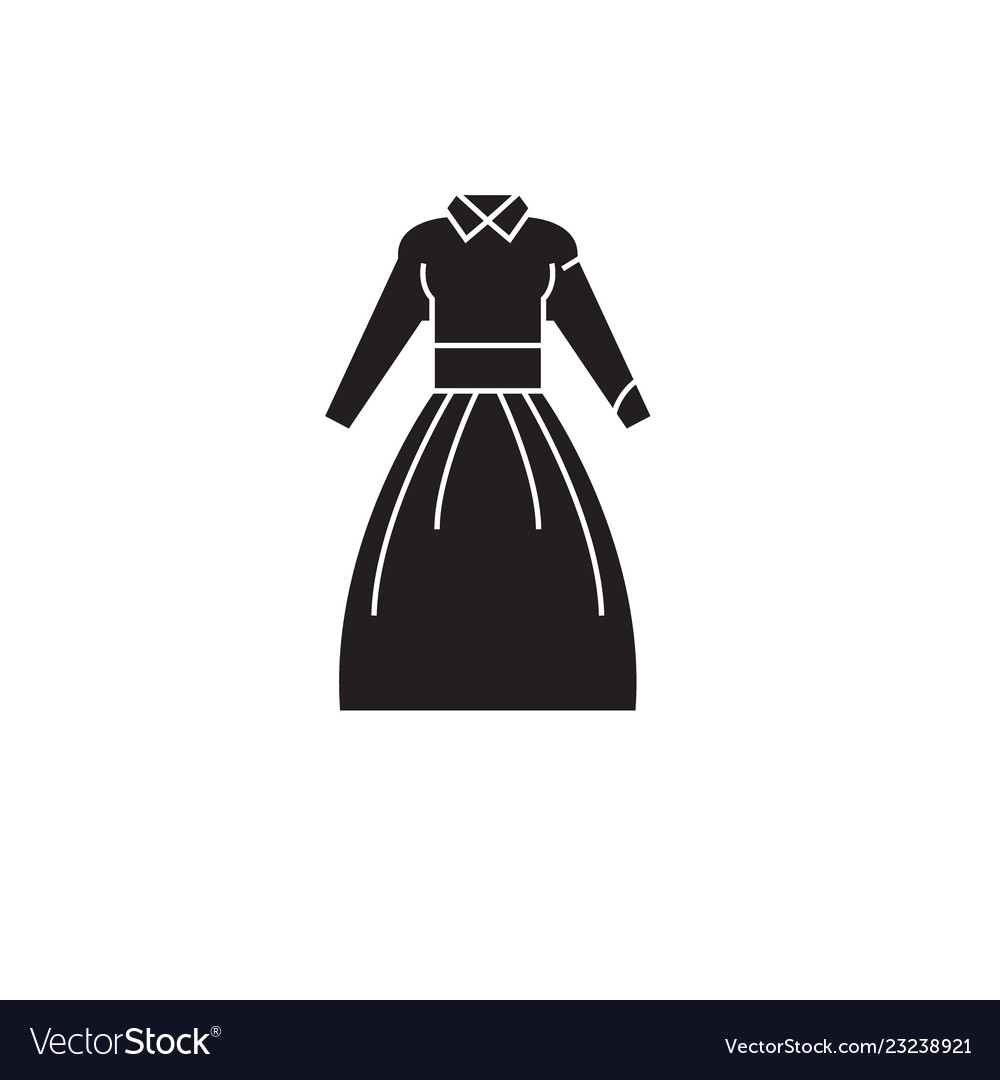 Country dress black concept icon country
