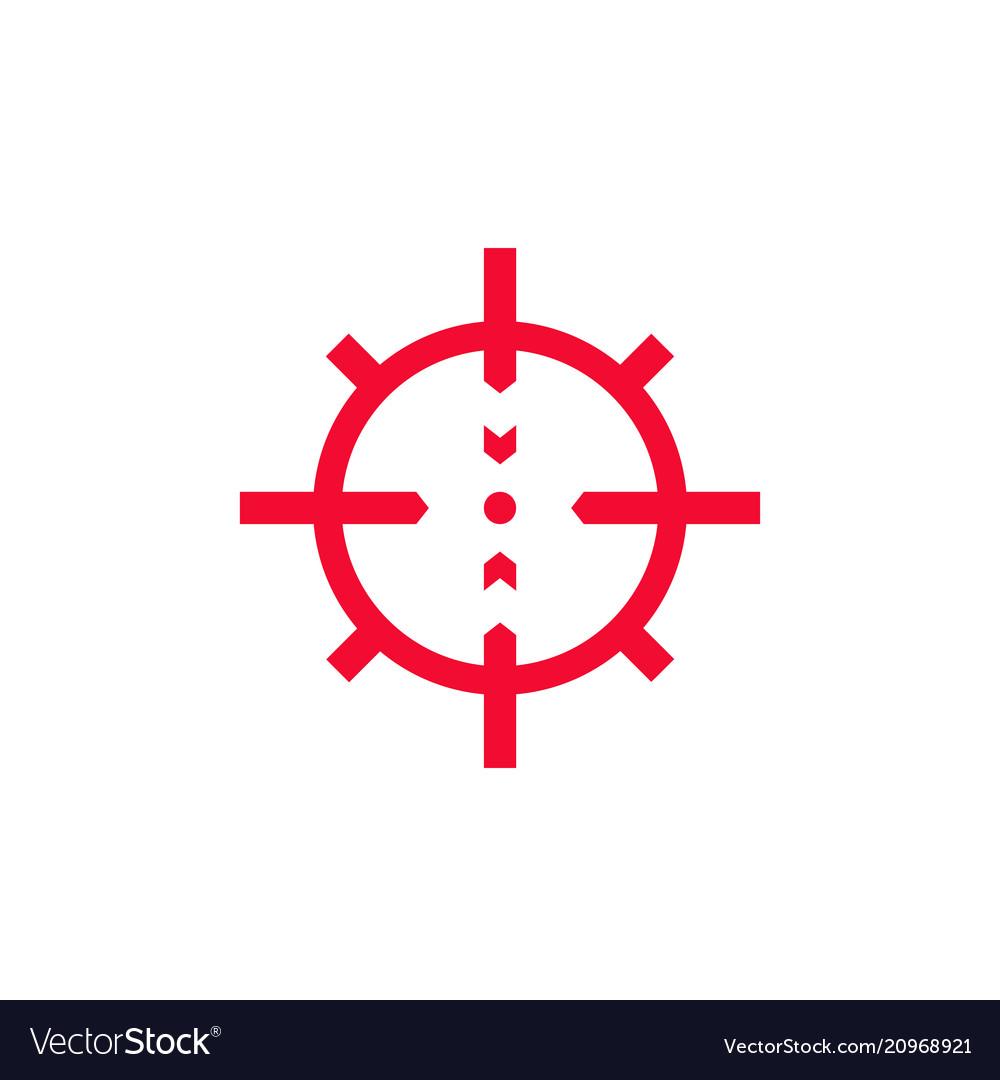 Crosshair icon on white