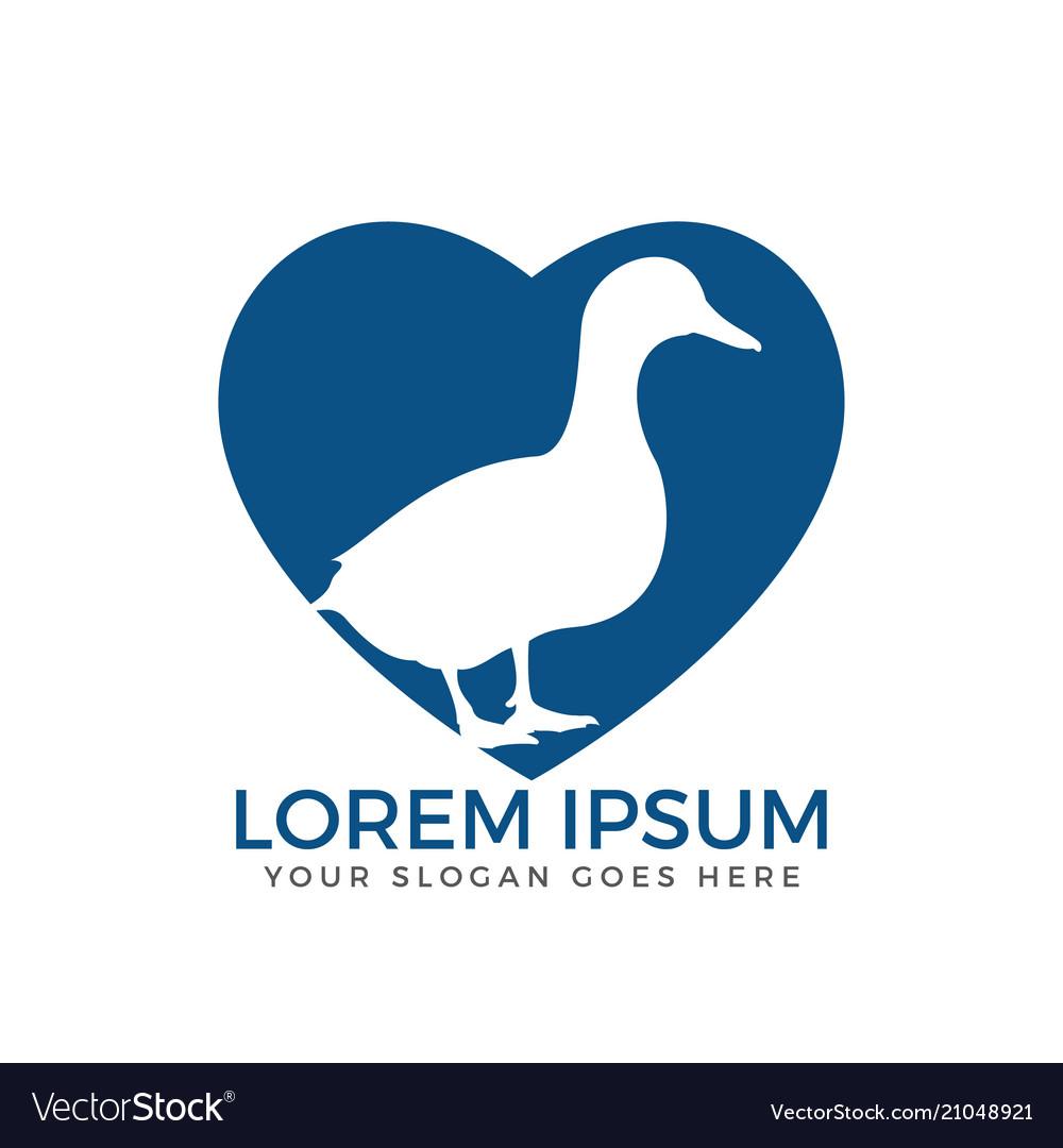 Duck logo template design