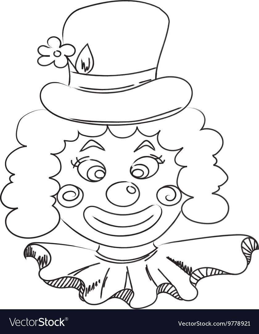 Картинка легкая клоуна