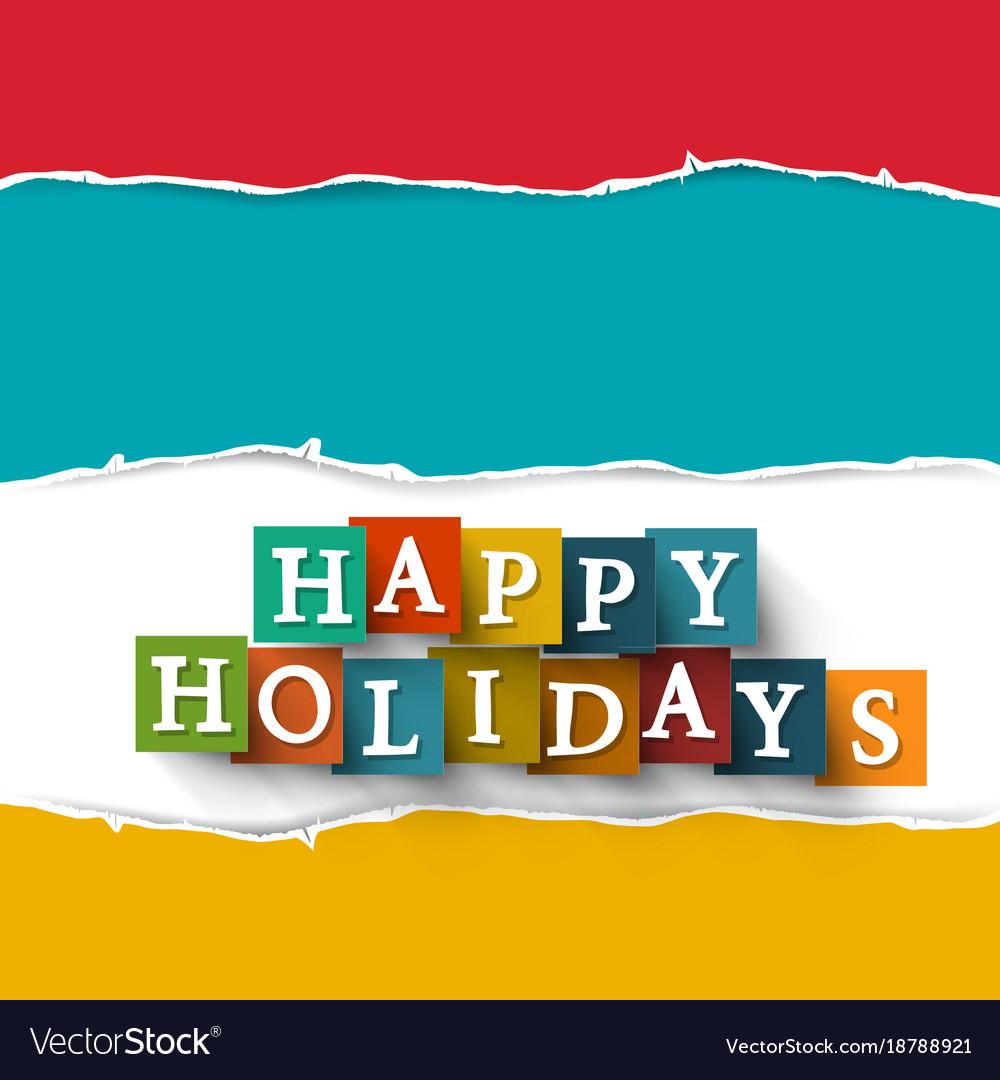 Happy holidays paper cut symbol