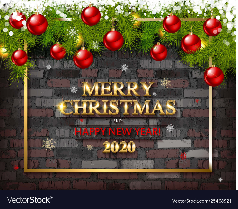 End Of Christmas Season 2020 Merry christmas and happy new year 2020 Royalty Free Vector