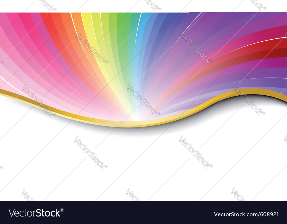 Rainbow abstract pattern