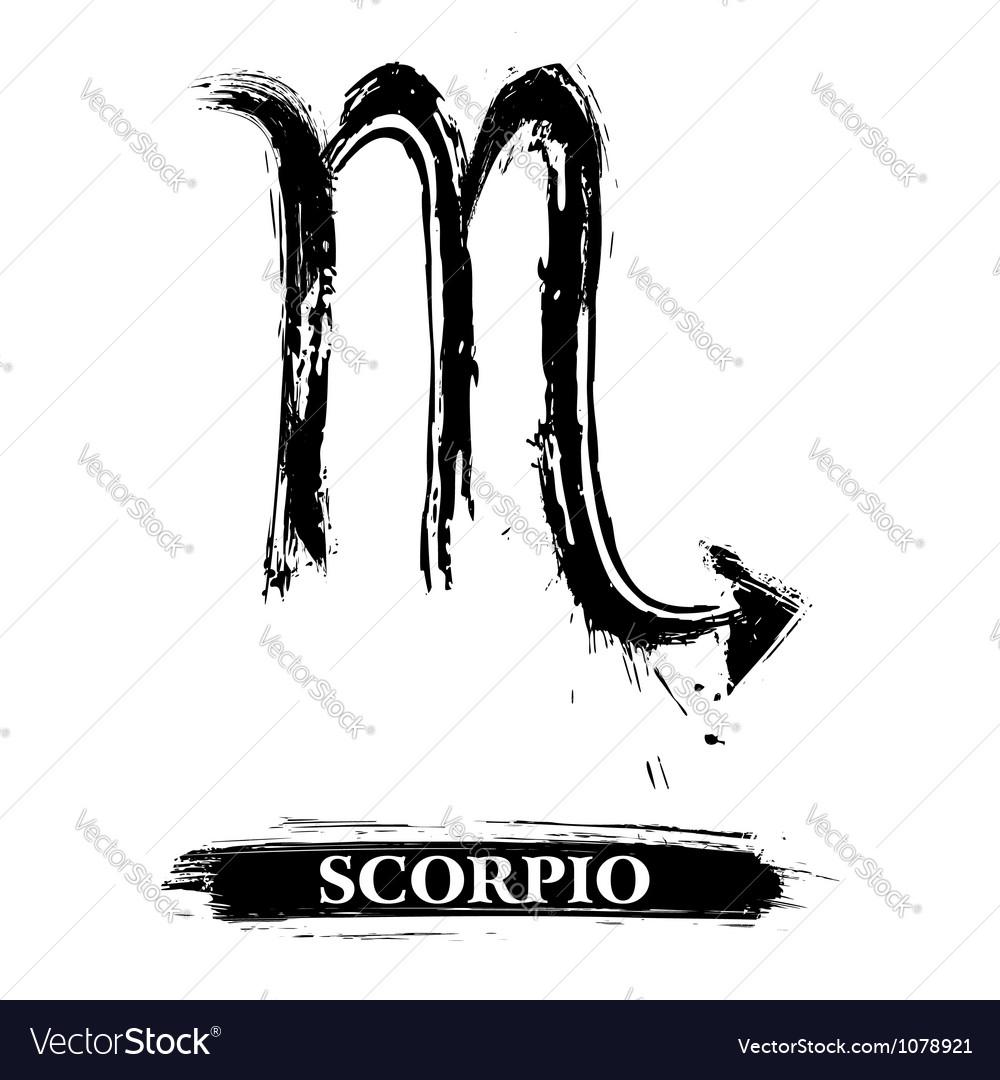 Scorpio Symbol Royalty Free Vector Image Vectorstock