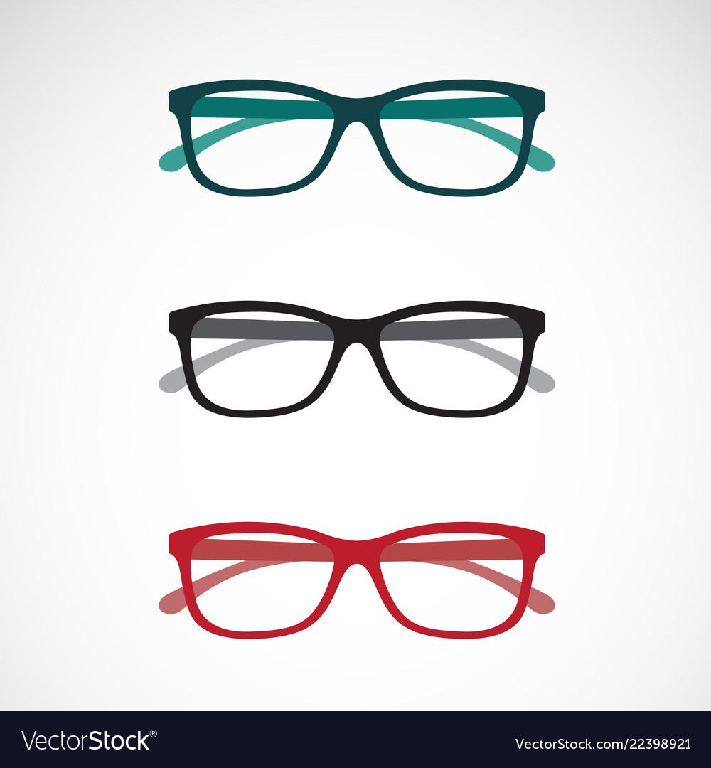 Set of eye glasses icons isolated on white