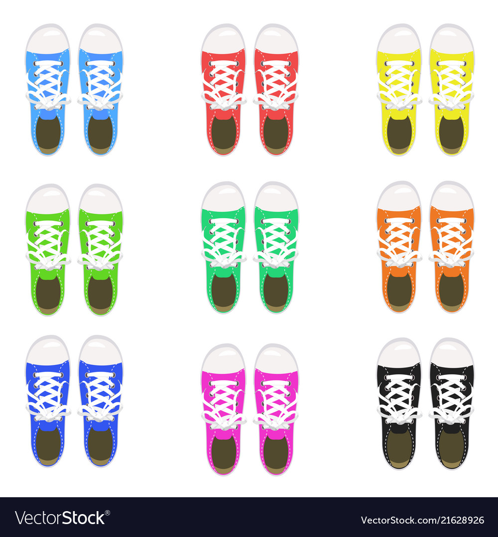 A set of sports shoes gym shoes keds various
