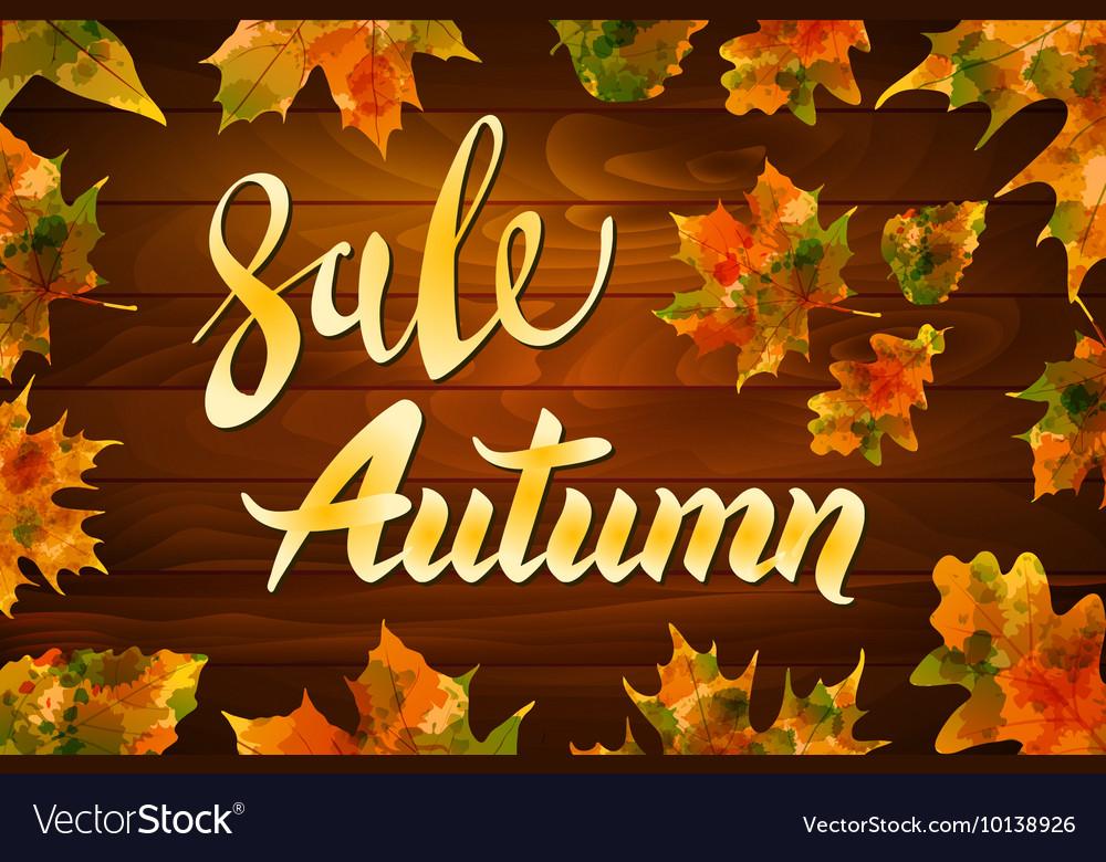 Autumn special sale vintage typography