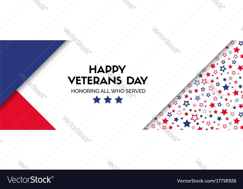 Banner for veterans day facebook size
