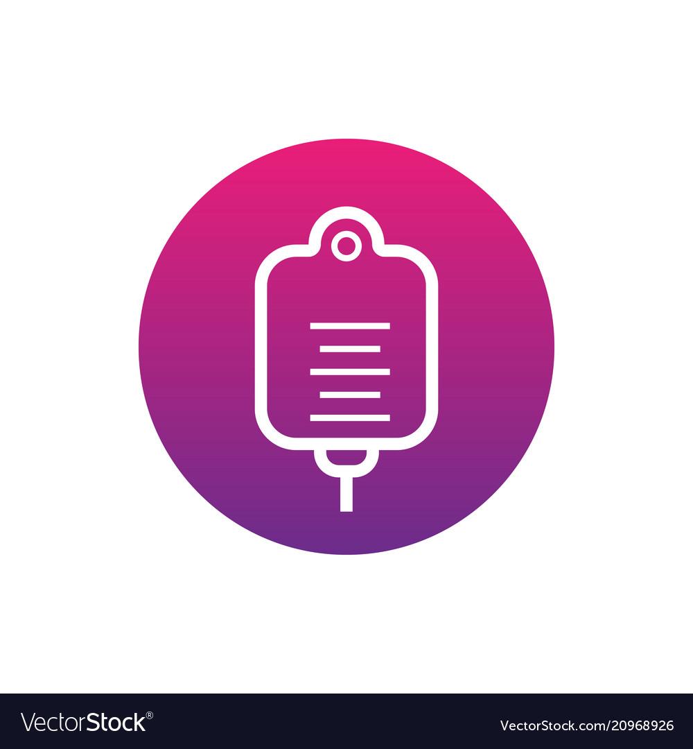 Drop counter icon round pictogram