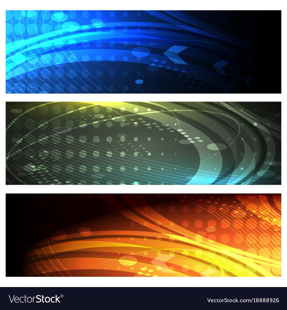 Futuristic space banner set