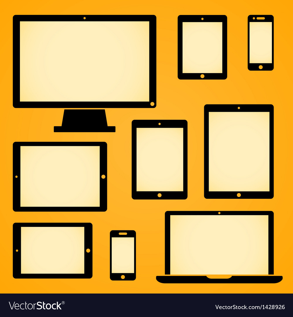 Mobile Device Symbols vector image