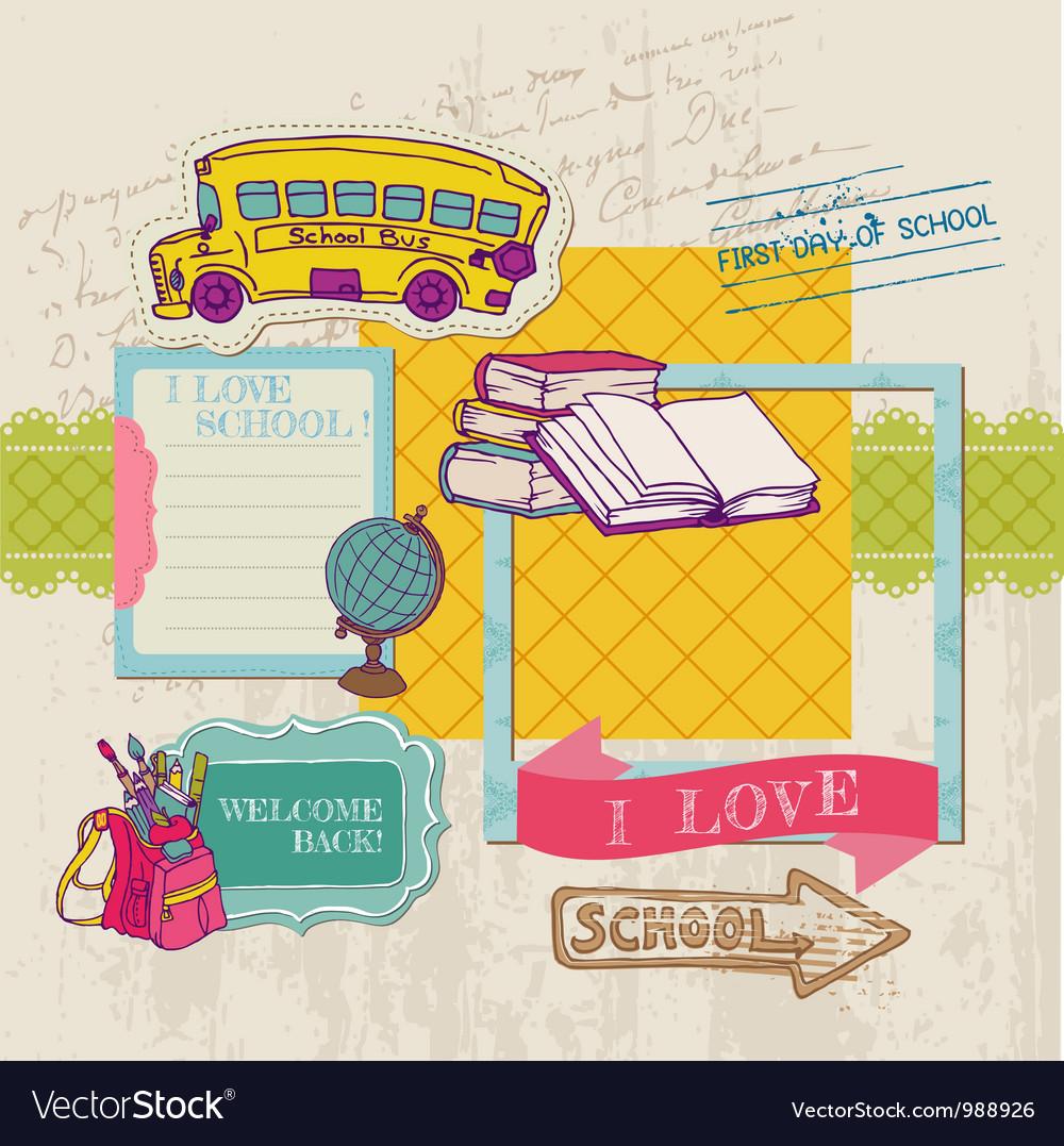 Scrapbook Design Elements - Back to School