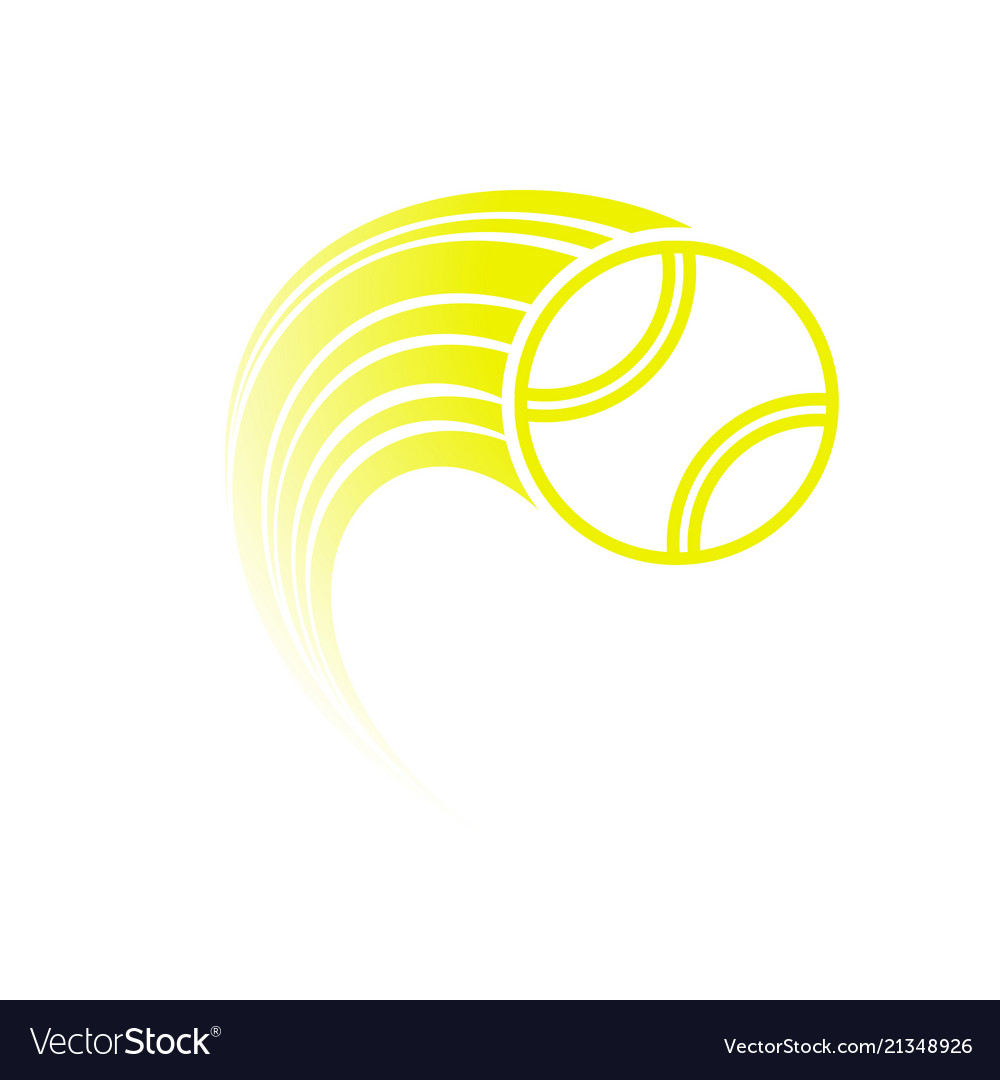 Yellow tennis ball with track