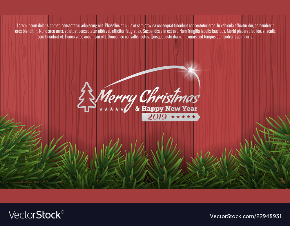 christmas with fir branch border frame on bottom vector image