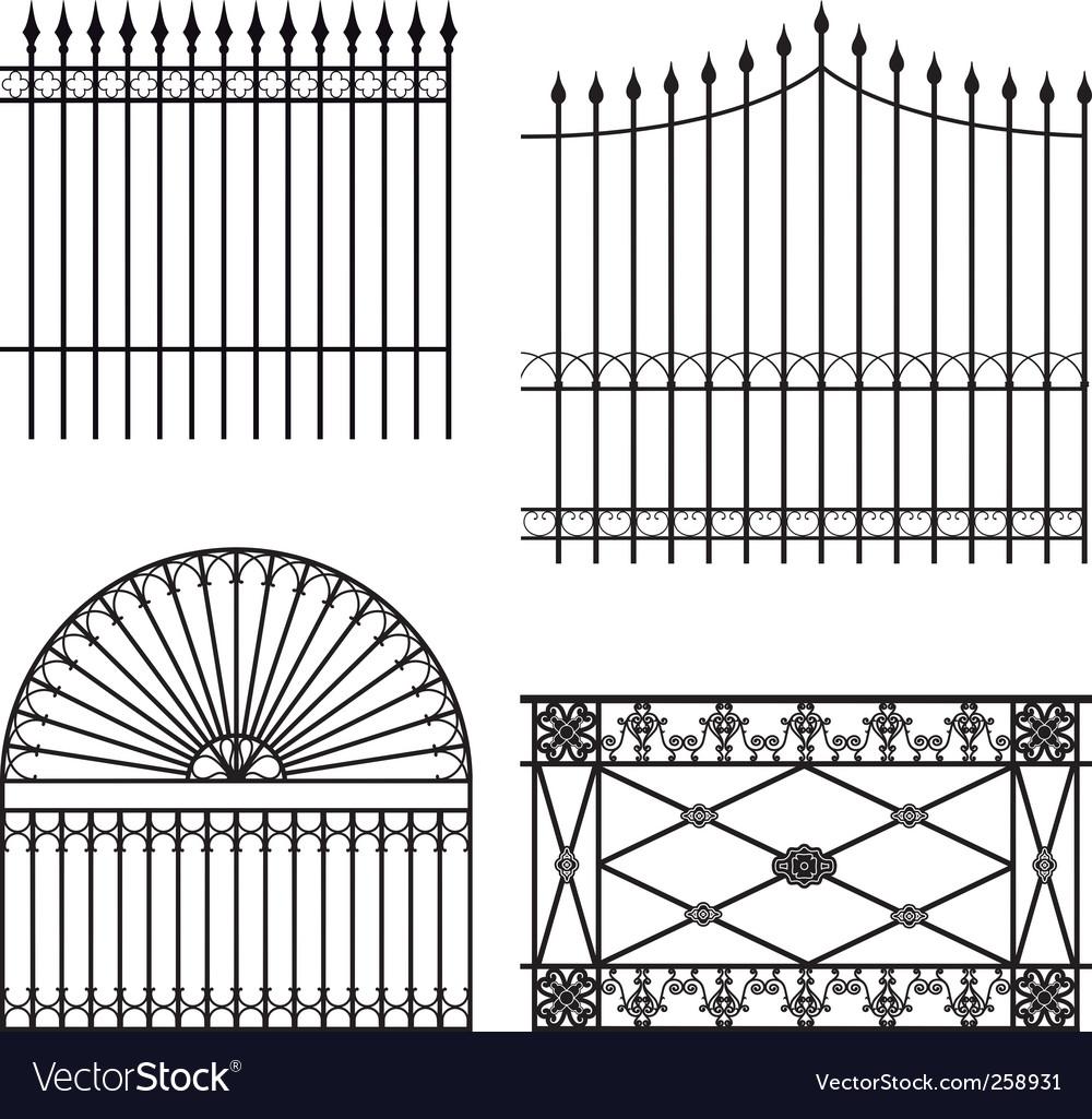 Fences vector image