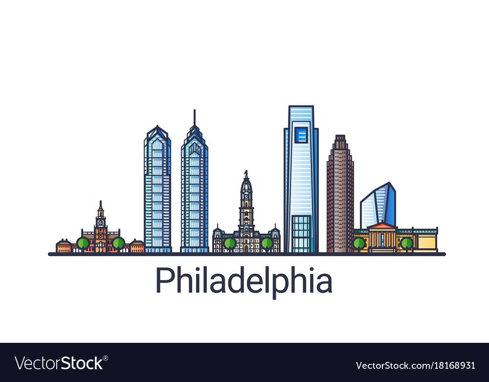 Flat line philadelphia banner