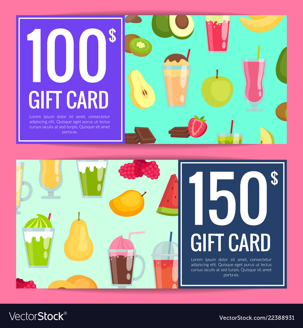 Flat smoothie discount gift templates