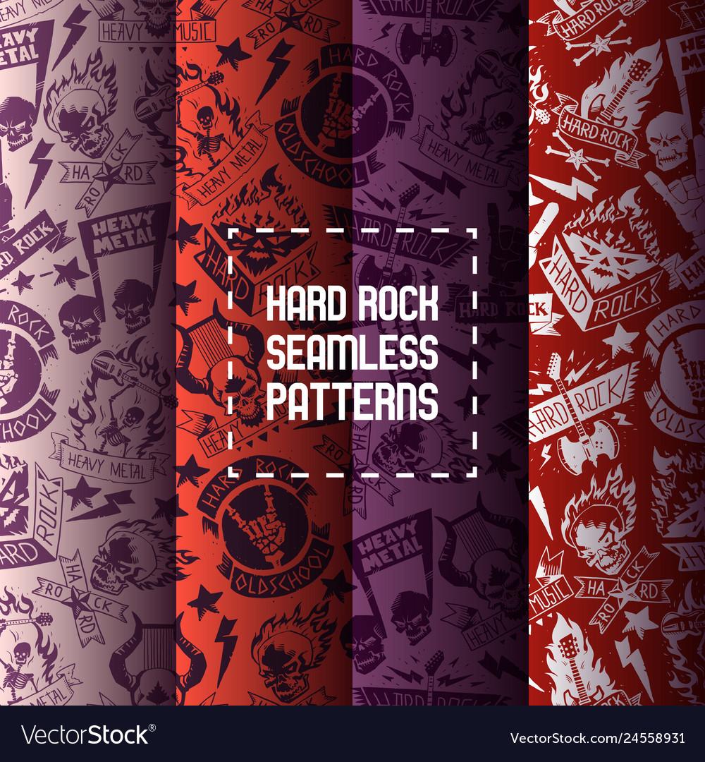 Heavy metal seamless pattern rock music