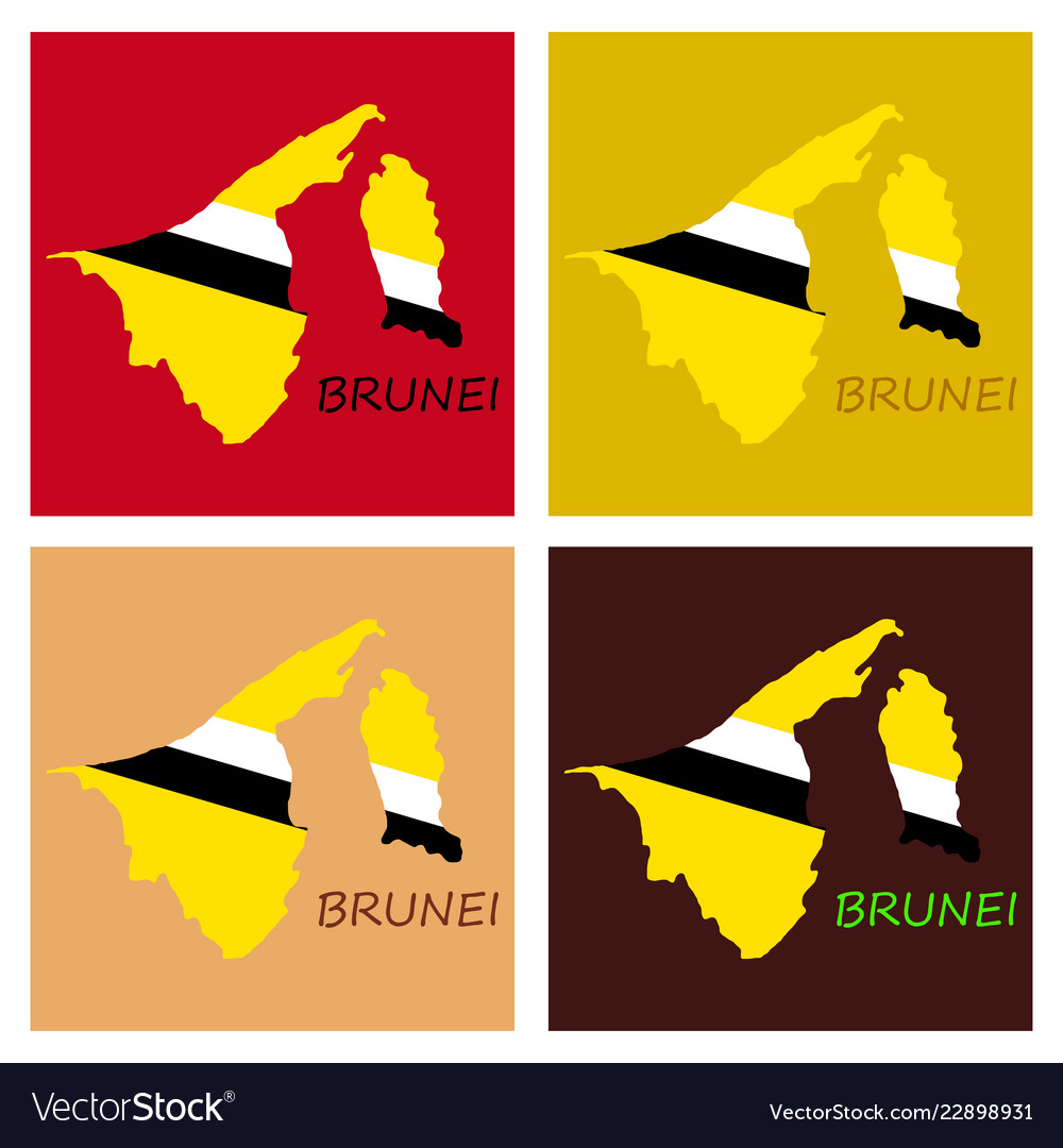 Map of brunei with the provinces colored in