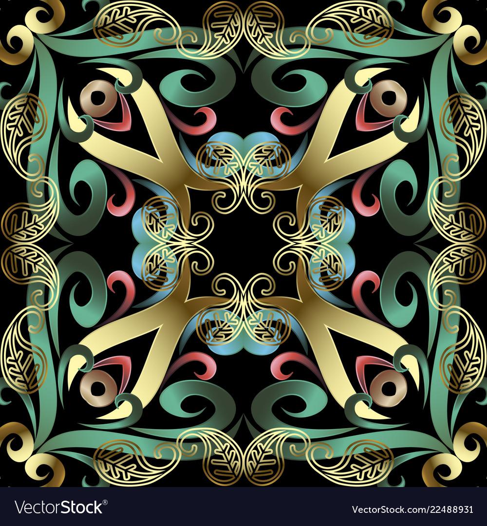 Modern ornate paisley seamless pattern beautiful