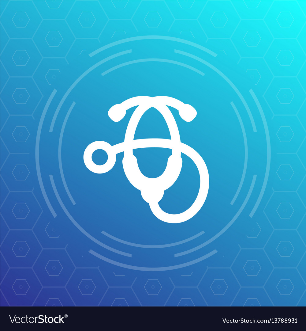 Stethoscope icon therapist physician medical ward