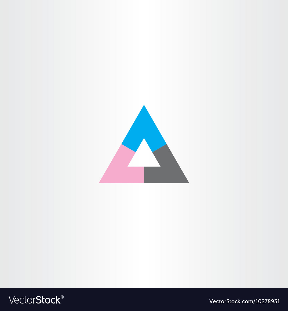 Tech business abstract triangle logo icon sign
