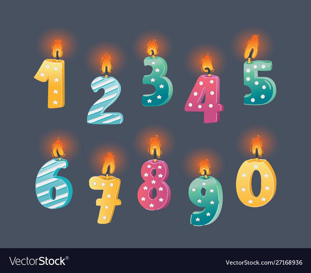 Candle number set