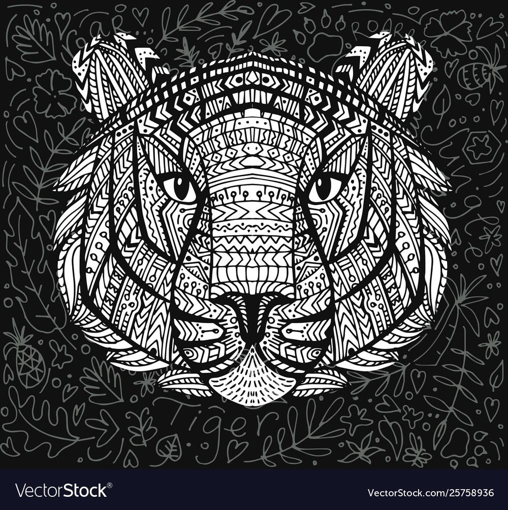 Geometric patterned head tiger