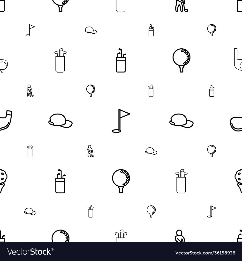 Golf icons pattern seamless white background