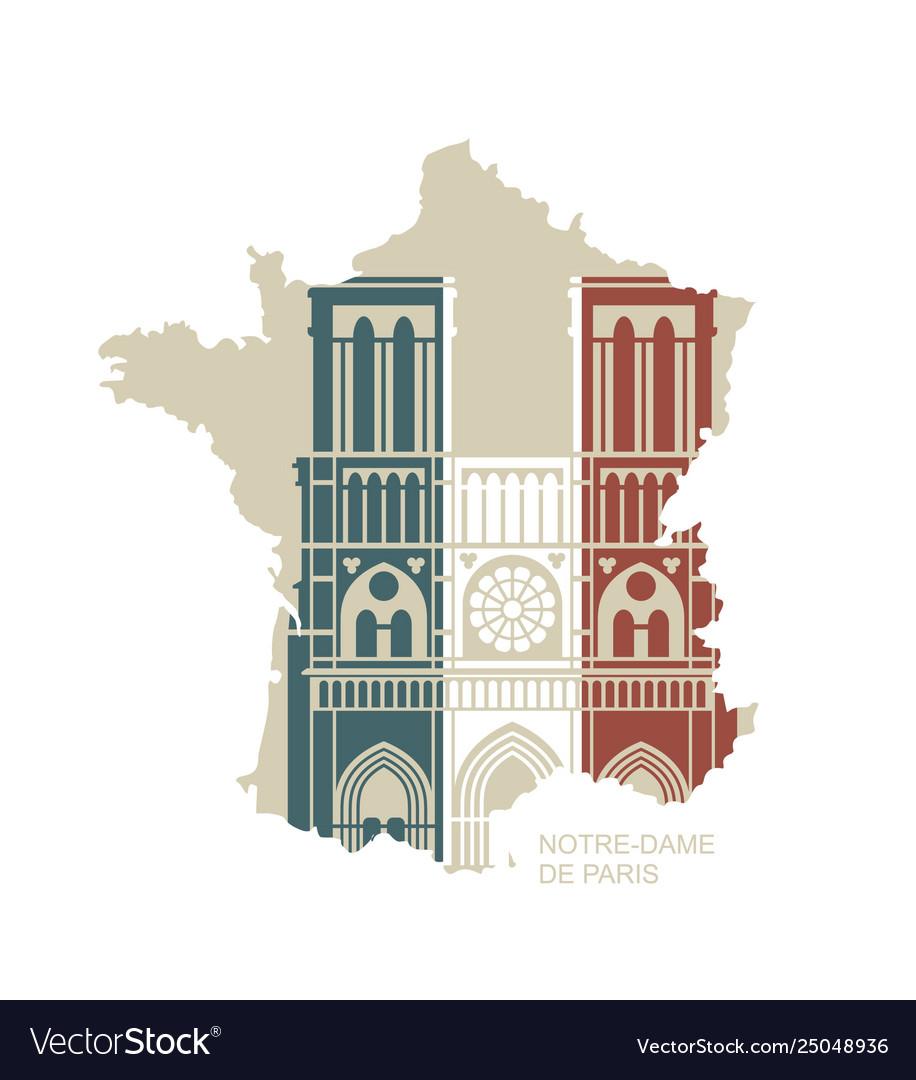 Notre dame de paris cathedral in colors the
