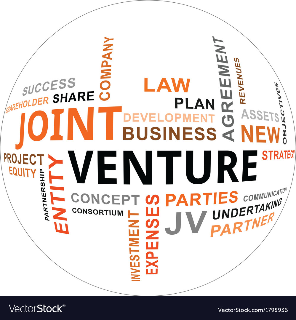 Word cloud joint venture vector image