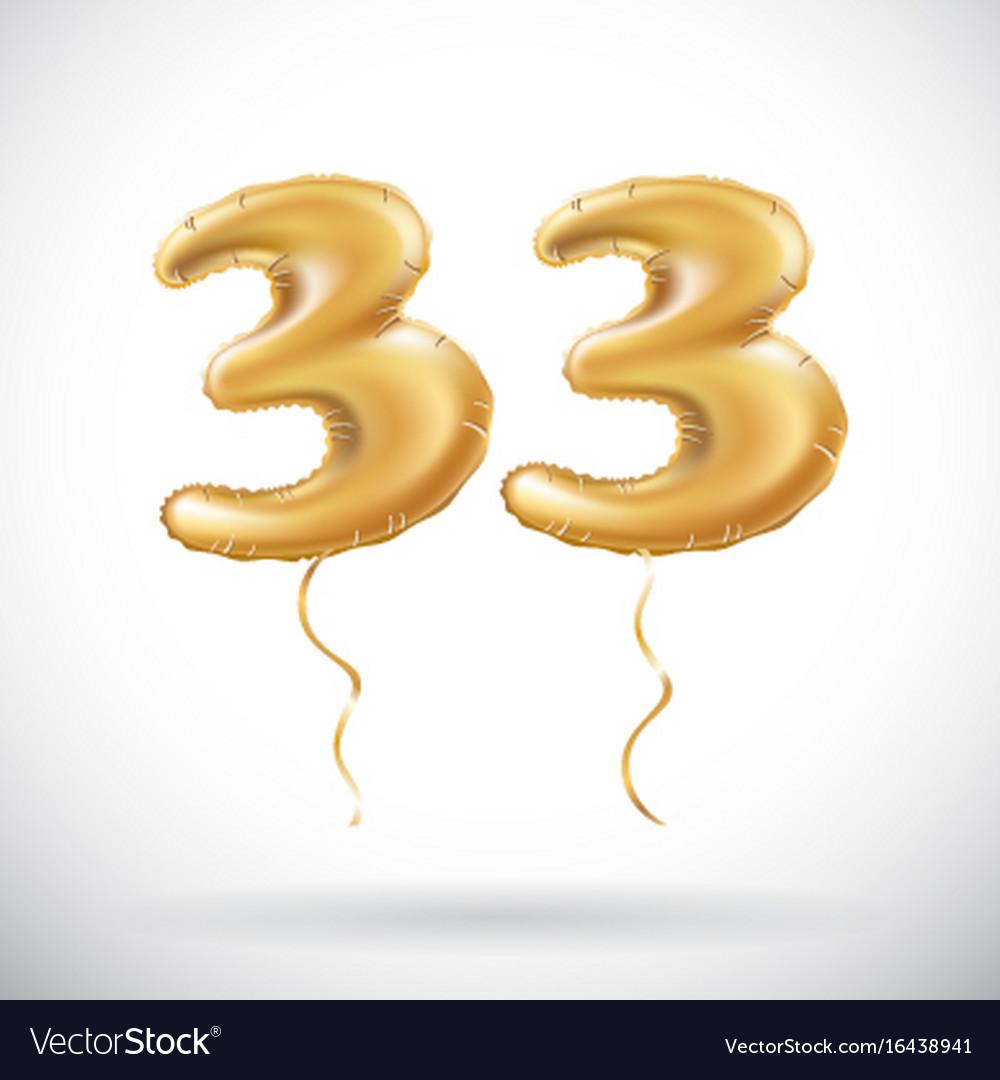 33 anniversary celebration with brilliant gold