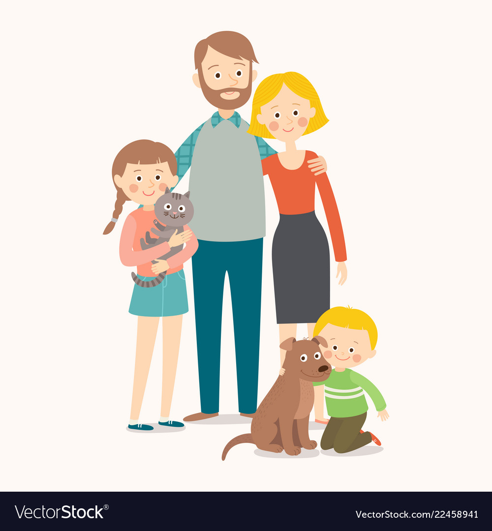 Appy family with pets