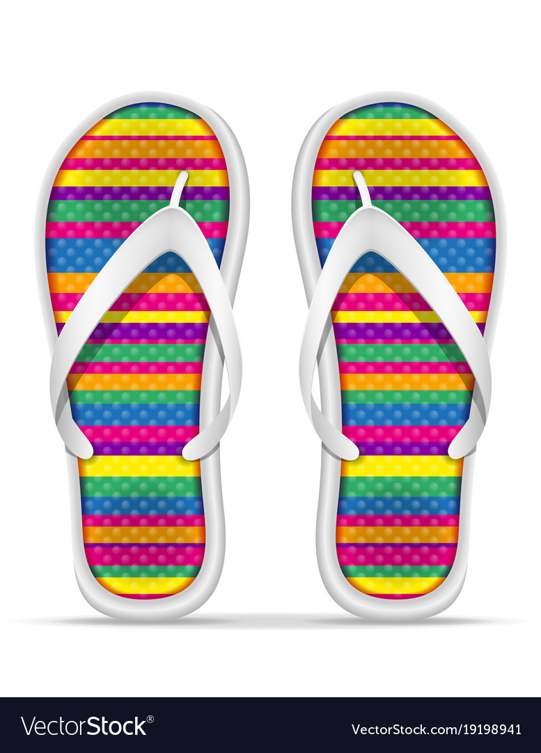 2e7470d0276b4d Beach slippers stock Royalty Free Vector Image