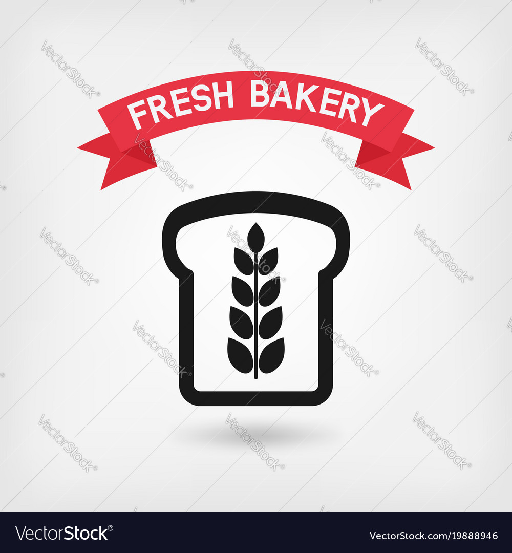 Bread symbol bakery sign