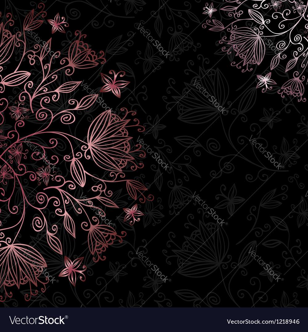 Floral card black