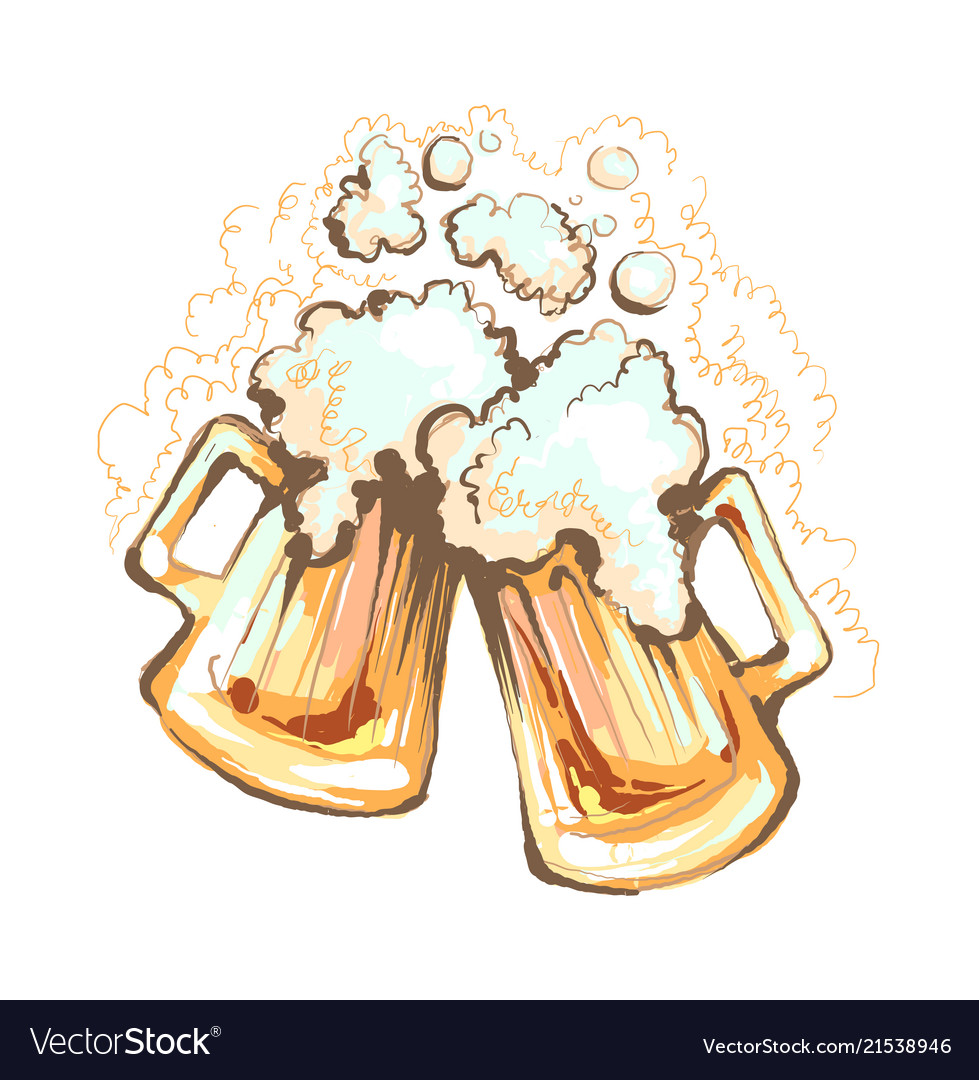 Love beer-handdrawn colored