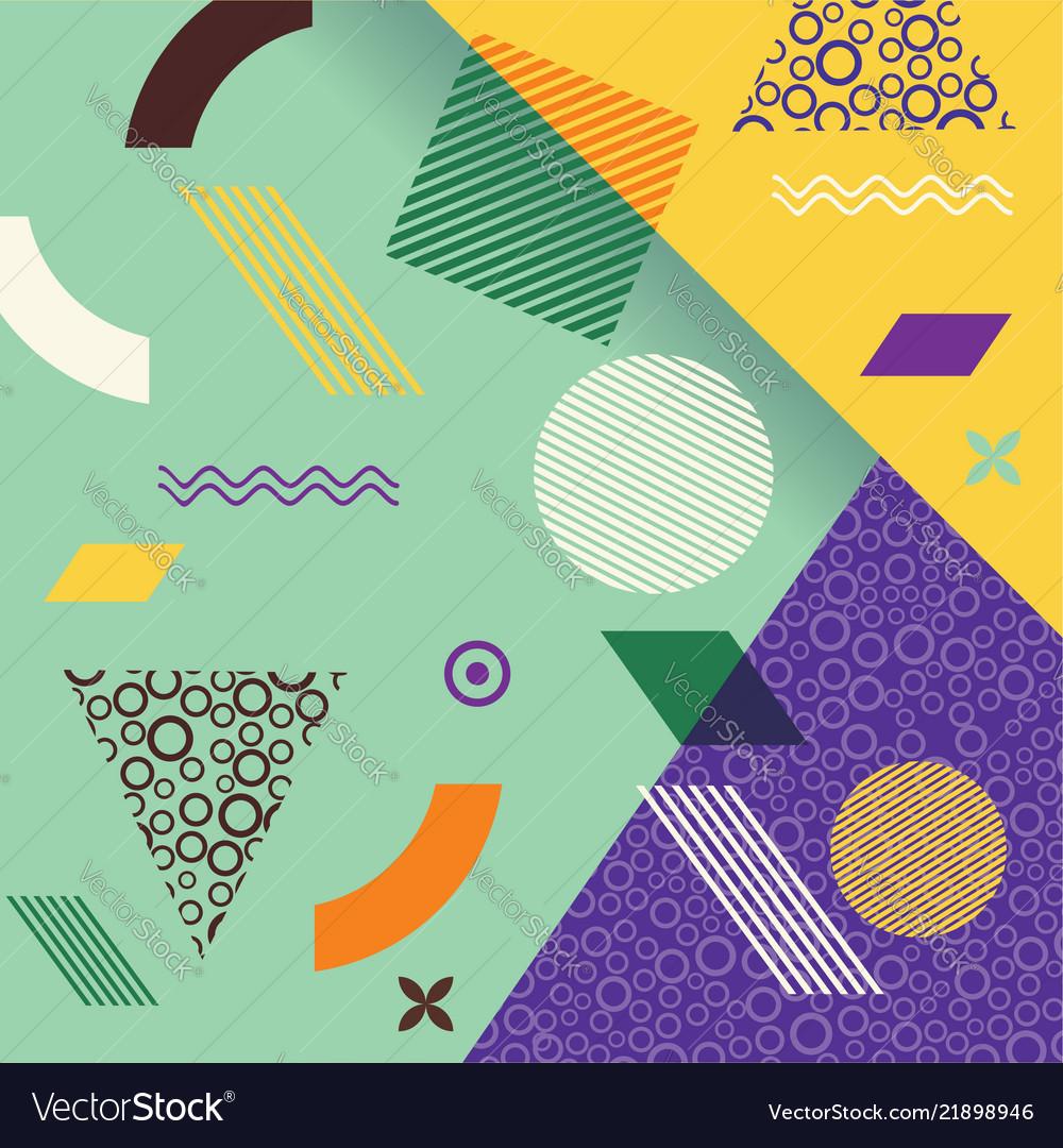 Retro design templates for brochure covers