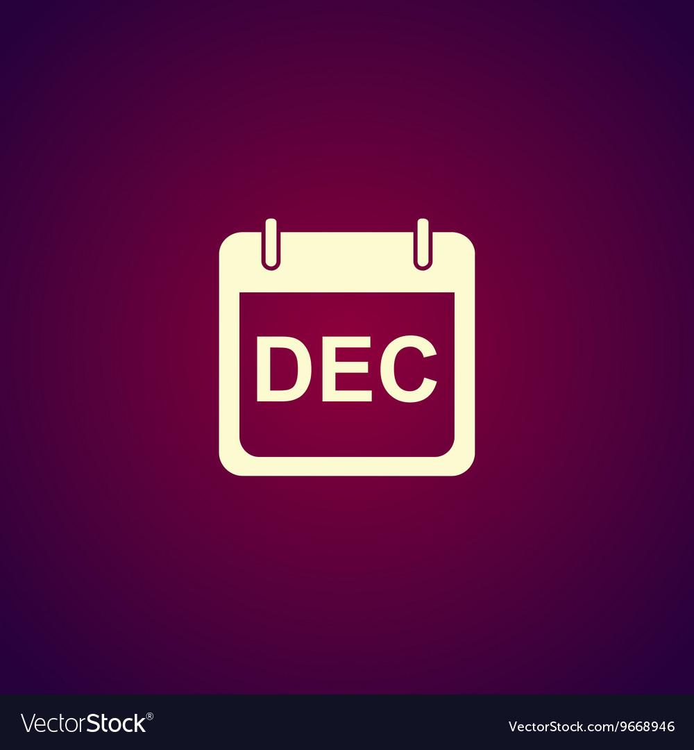 Simple Calendar Modern design flat style icon