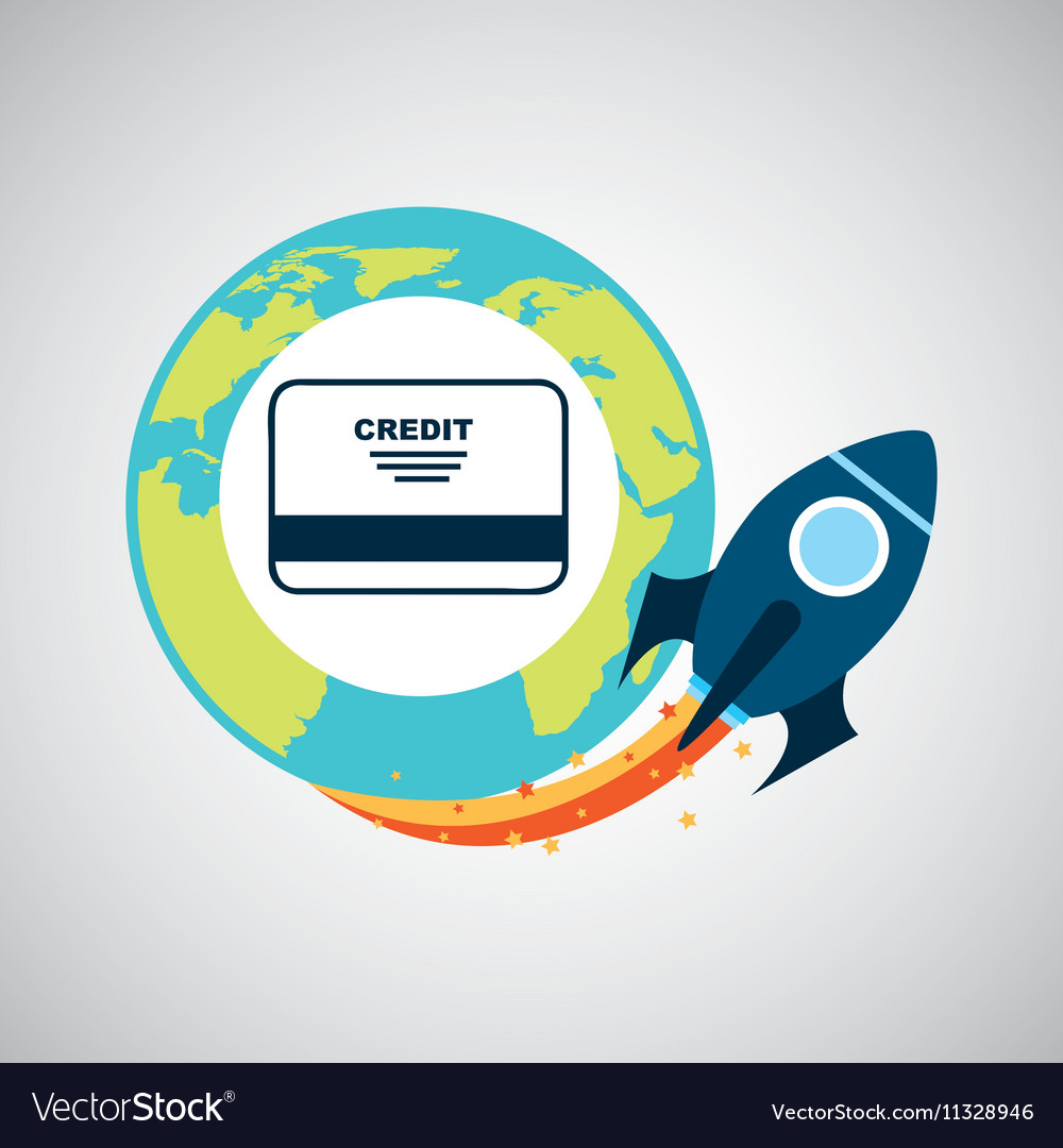 Start up globe business credit card royalty free vector start up globe business credit card vector image colourmoves