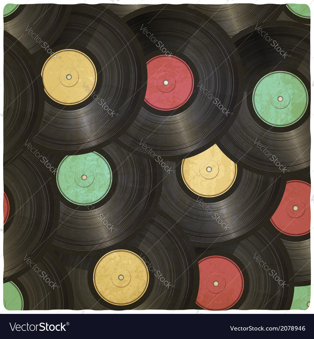 Vinyl record old background