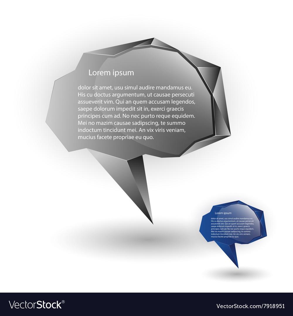 Abstract speech balloons or talk bubbles