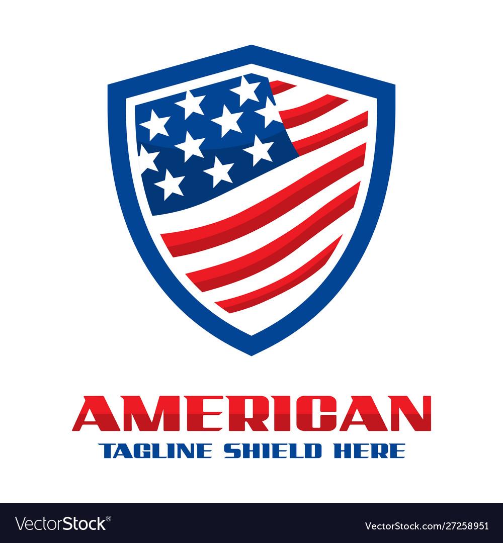 American flag shield logo