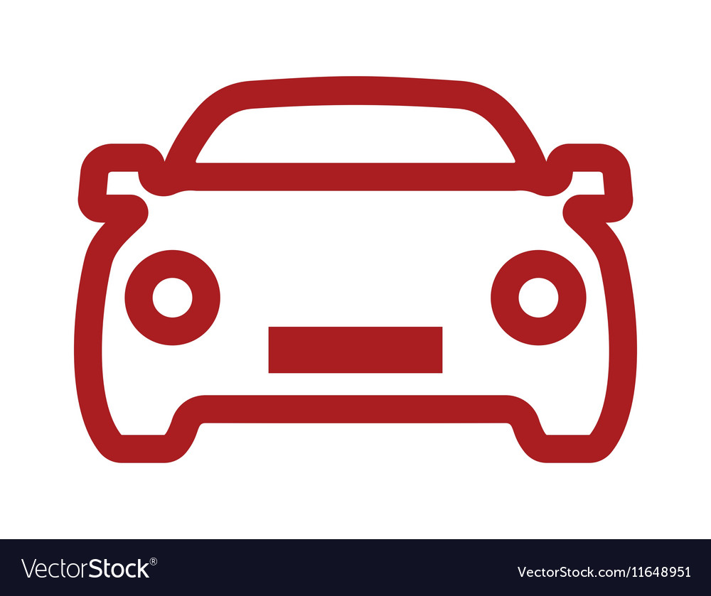 car simple outline icon2 resize royalty free vector image rh vectorstock com car engine outline vector smart car outline vector