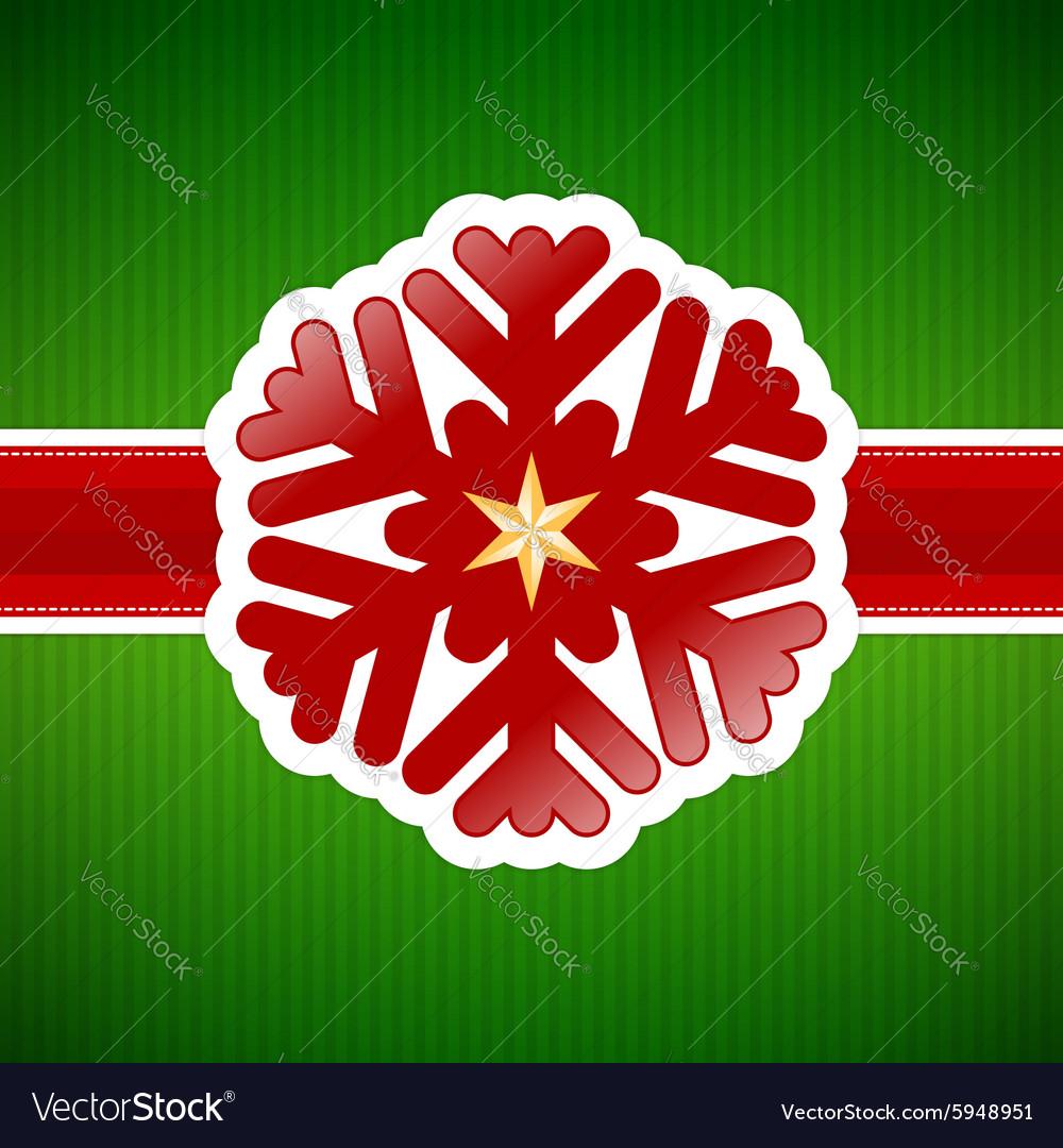 Christmas snowflake vintage card