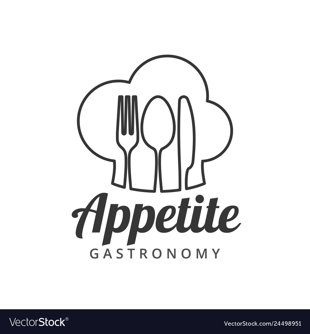 Food logo with fork knife and spoon