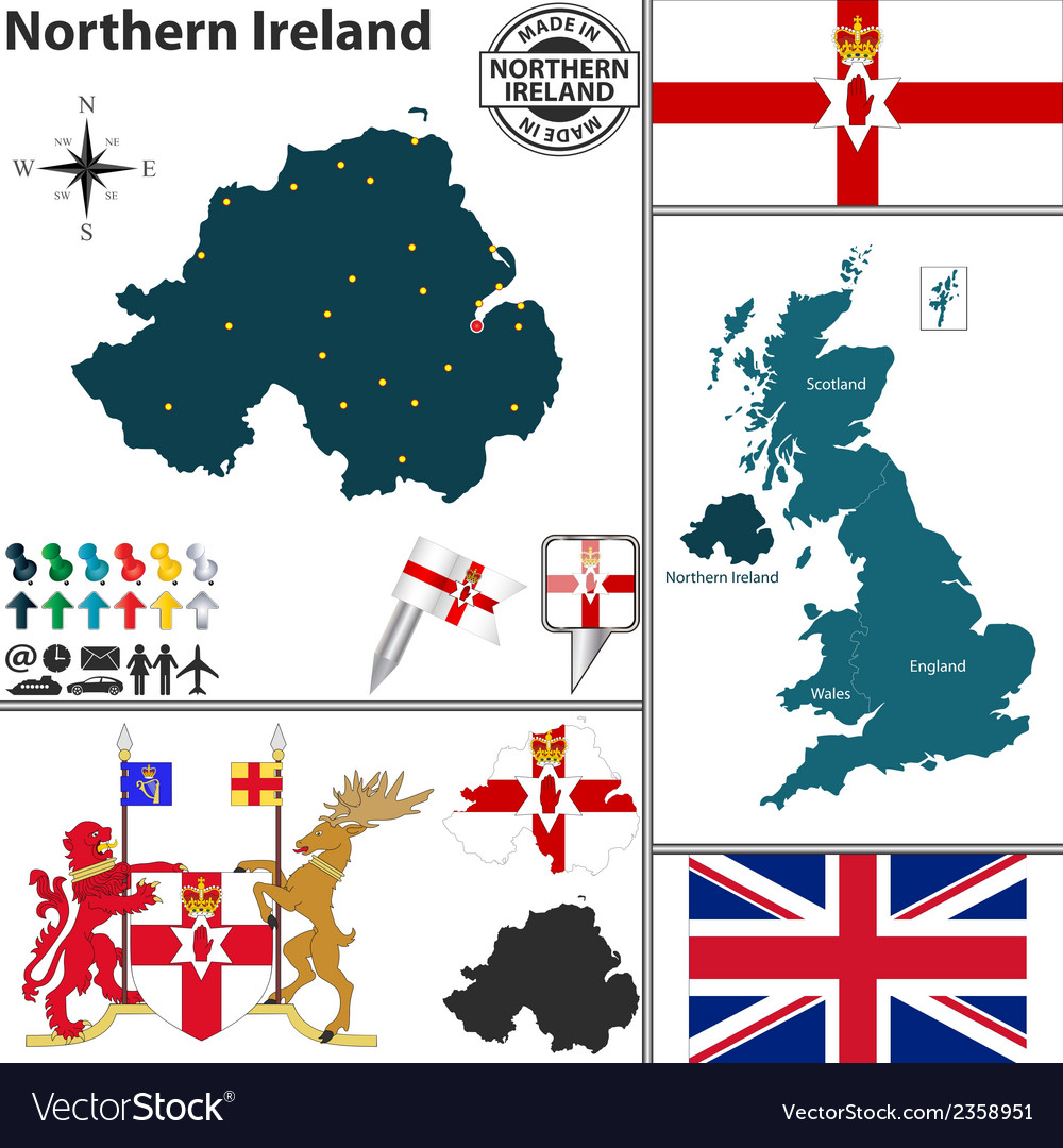 Map Of Northern Ireland And Ireland.Northern Ireland Map